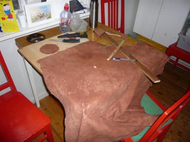 birch tanned reindeer leather (Medium)
