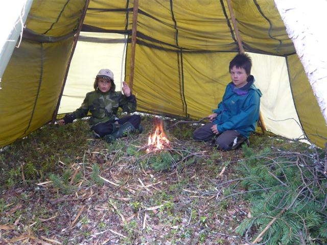boys in tipi (Small)