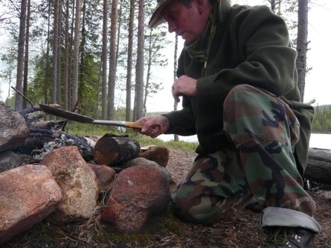 cooking bannock (Medium)