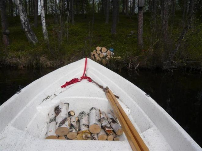wood in boat (Medium)