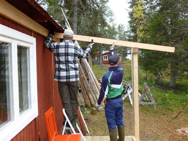 Building A Veranda On My Cabin 2 Laplander S Natural Lore Blog