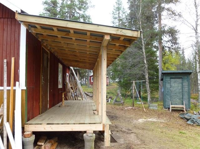 Building a veranda on my cabin-2 – Laplander's Natural Lore Blog