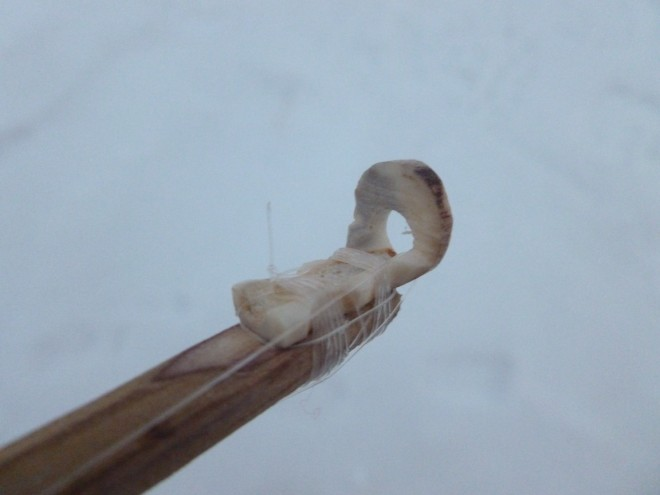 ice fishing rod antler eyelet