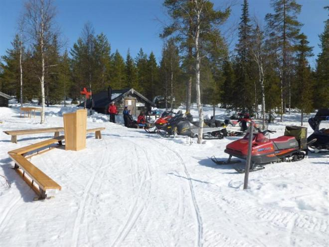 snowmobiles at polar circle (Medium)