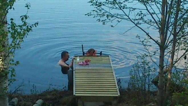 swimming in lake-1