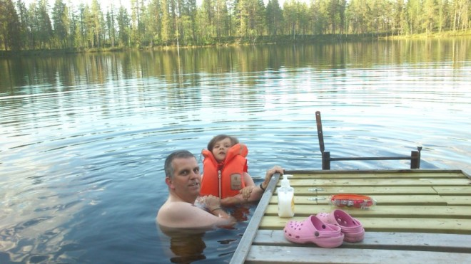 swimming in lake-2