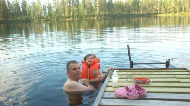 swimming in lake-2