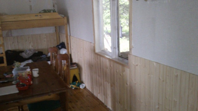 wall panel in cabin