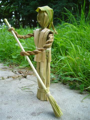 Cattail doll with broom-2 (Small)