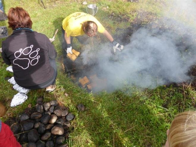 food in fire pit (Medium)