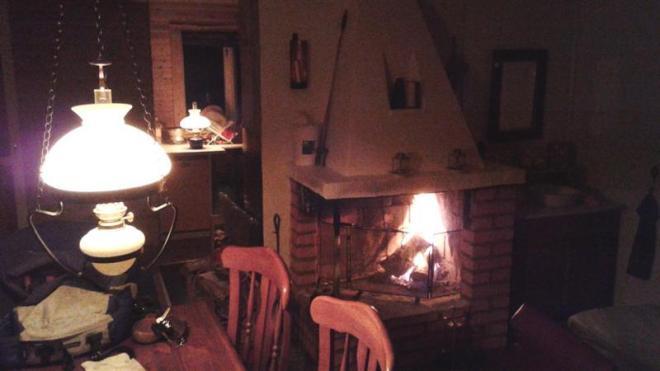 evening in cabin (Medium)