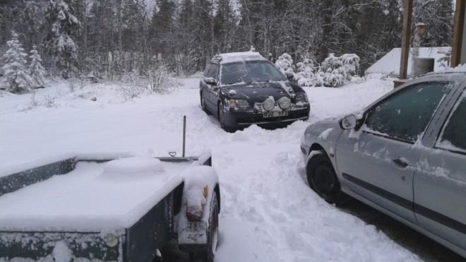snowfall lapland