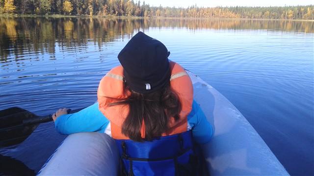emma in canoe