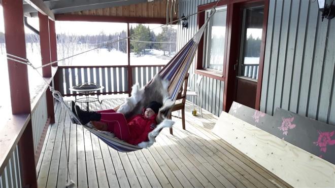emma in hammock