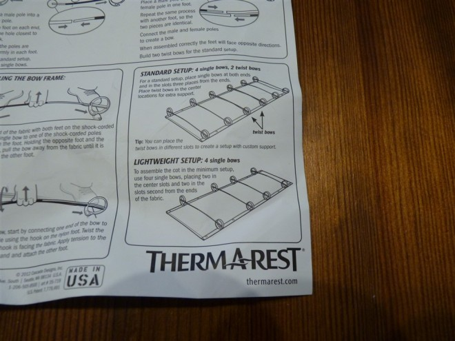 thermarest-cot-set-up