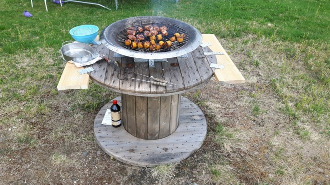 cable drum bbq