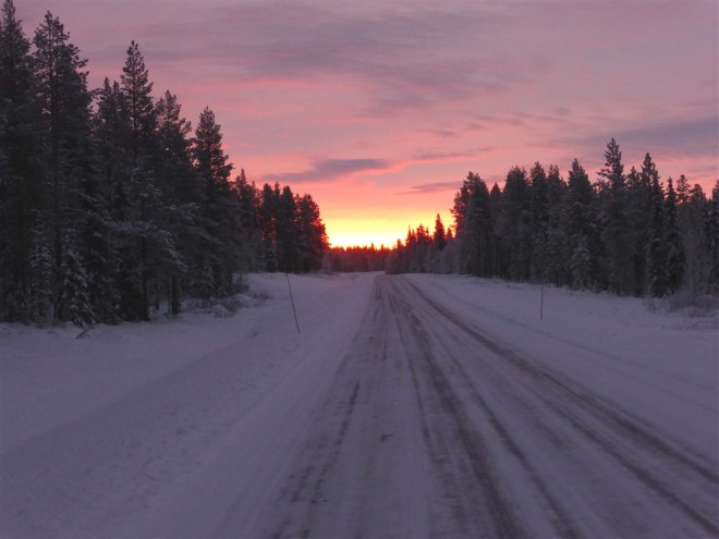 lapland sunrise