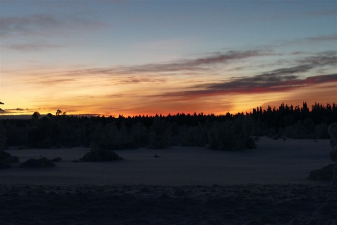 lompolovaara sunset