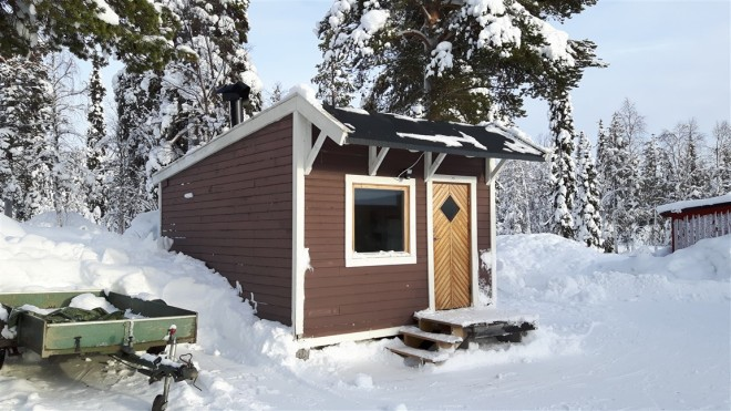 cabin in garden