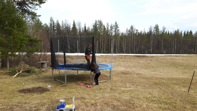 building trampoline