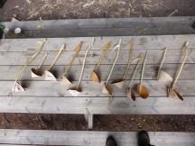 birch bark ladles