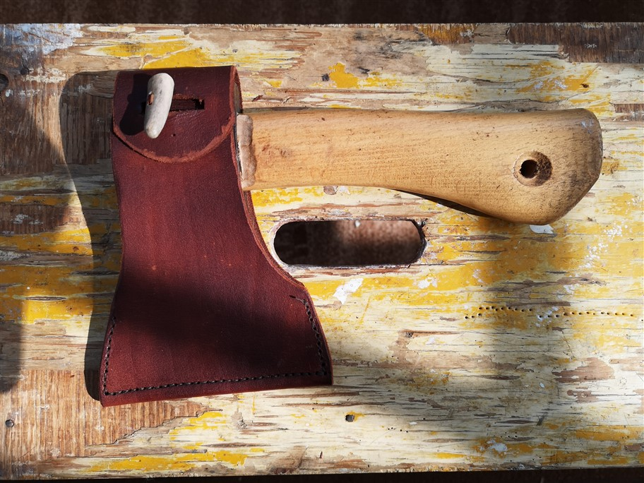 completed axe sheath