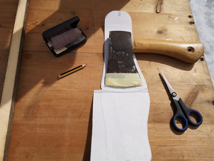 designing axe sheath