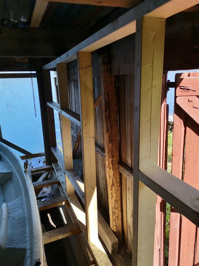 boathouse internal wall
